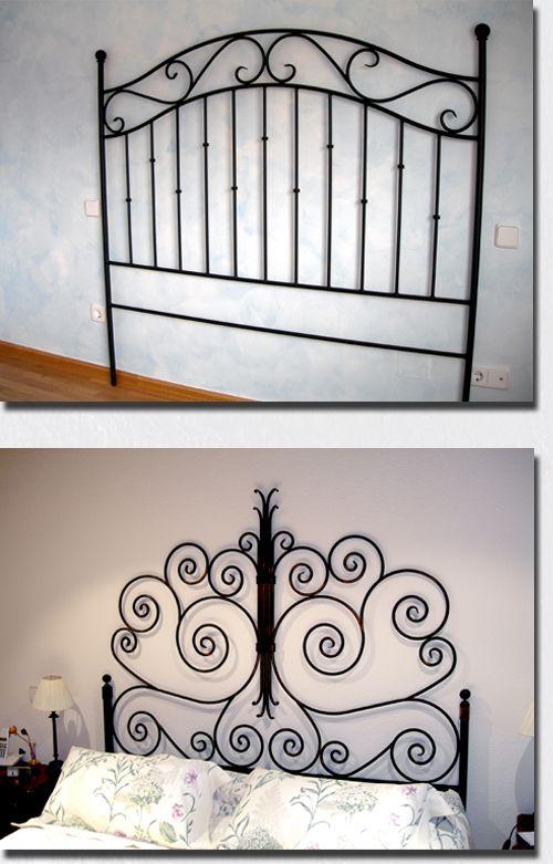 mueble-de-forja-cabecero.jpg (500×781) | Arte con tubos | Pinterest ...