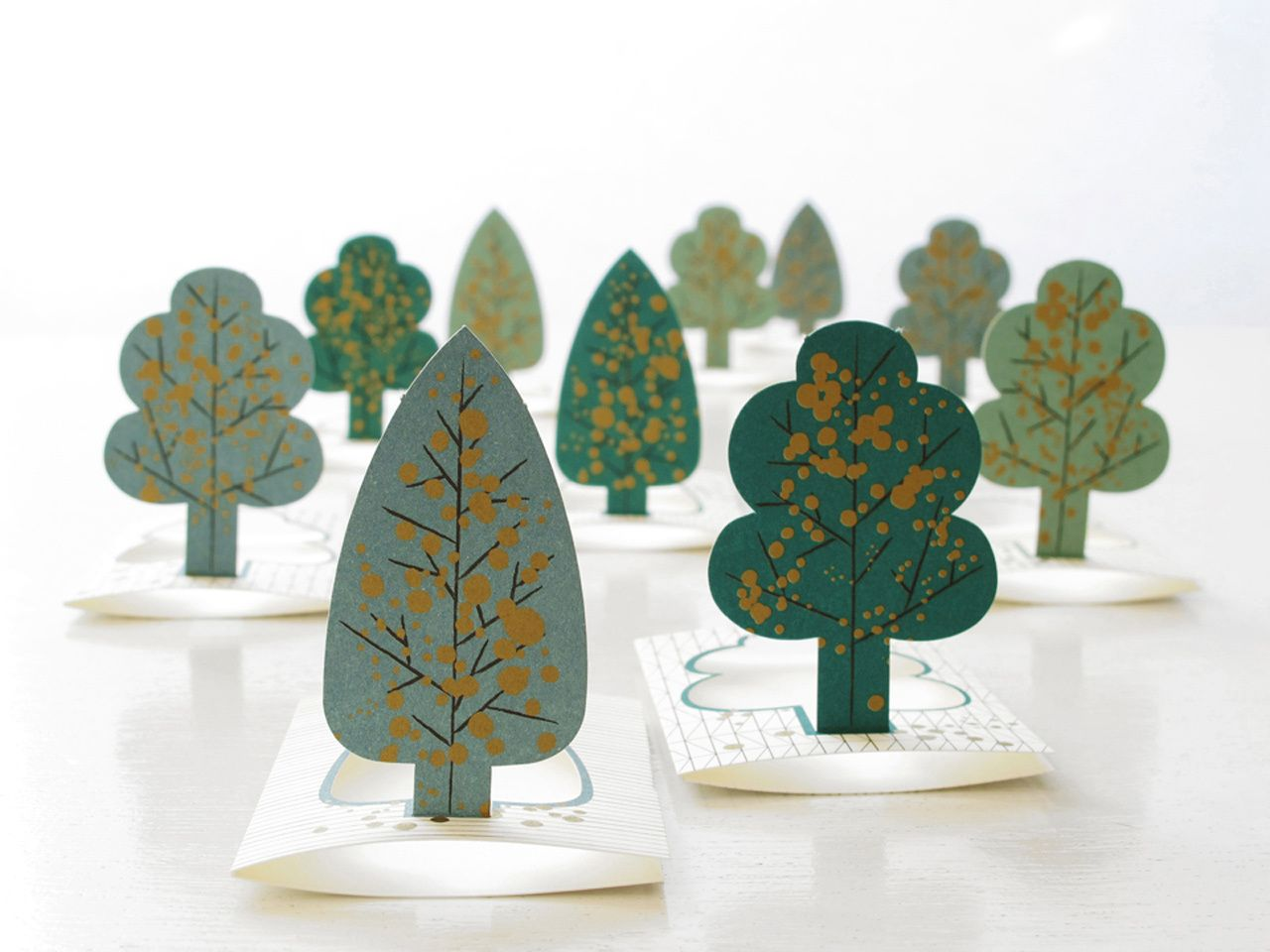 forest, pop up cards