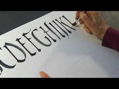 The Minim Stroke Defines Character Of Letter Form In Calligraphy Learn About Rustic Strokes With This Free Handwriting Video