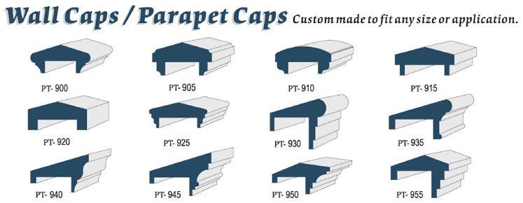Custom Foam Wall Caps Parapet Caps Parapet Roof Lantern Roof