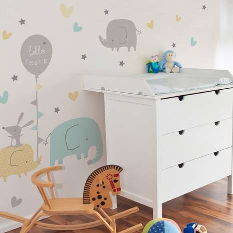 ellie and friends wall stickers | dunelm | levi's space | wall