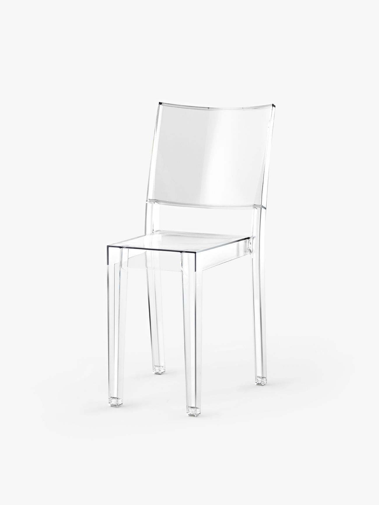 philippe starck la marie the world s first completely transparent chair made from a single. Black Bedroom Furniture Sets. Home Design Ideas