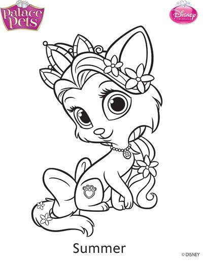 Disney Princess palace Pets para colorir (Berry, Bibbidy e Summer ...