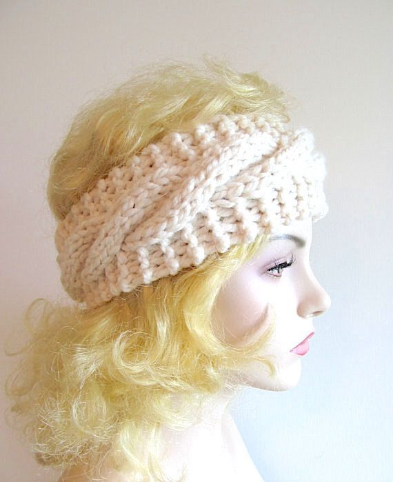 Not a Freebie - Easy Cable Headbands Chunky Ear Warmer | Knitted or ...