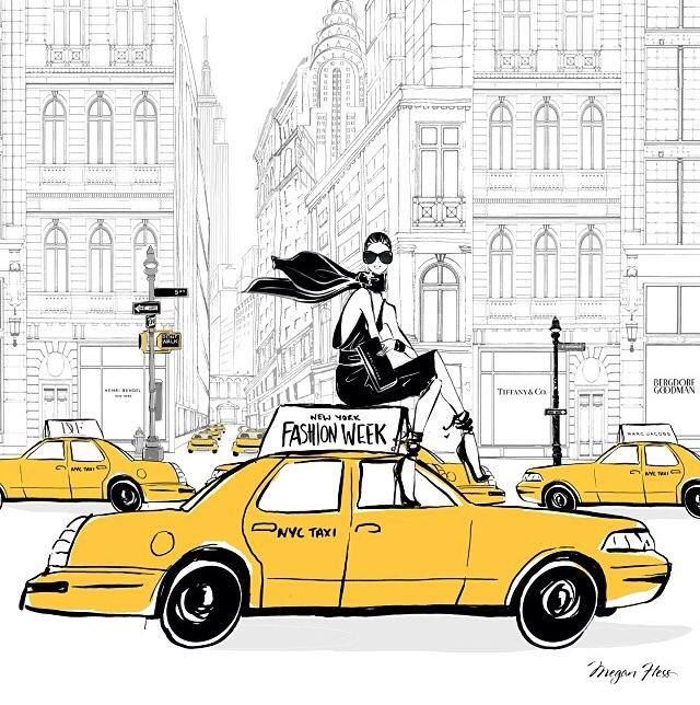 New York Fashion Week by Megan Hess Illustration #NYFW - I now have ...