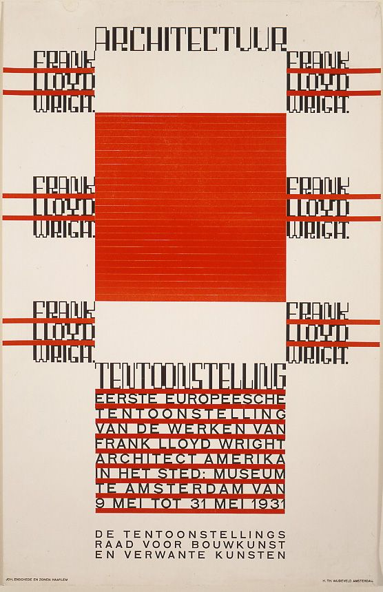 Hendrikus Theodorus Wijdeveld, 'Architectuur/Frank Lloyd Wright,' 1930.
