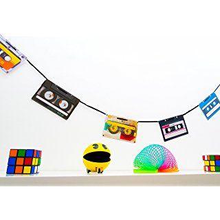 90er jahre party deko wimpelkette im retro kassetten design party partydeko - 90er jahre deko ...