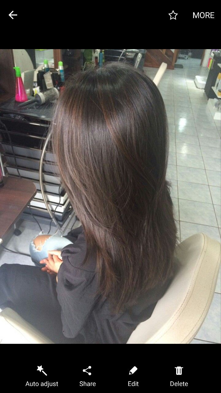 Balayage On Dark Brown Straight Hair Color My Hair Balayage
