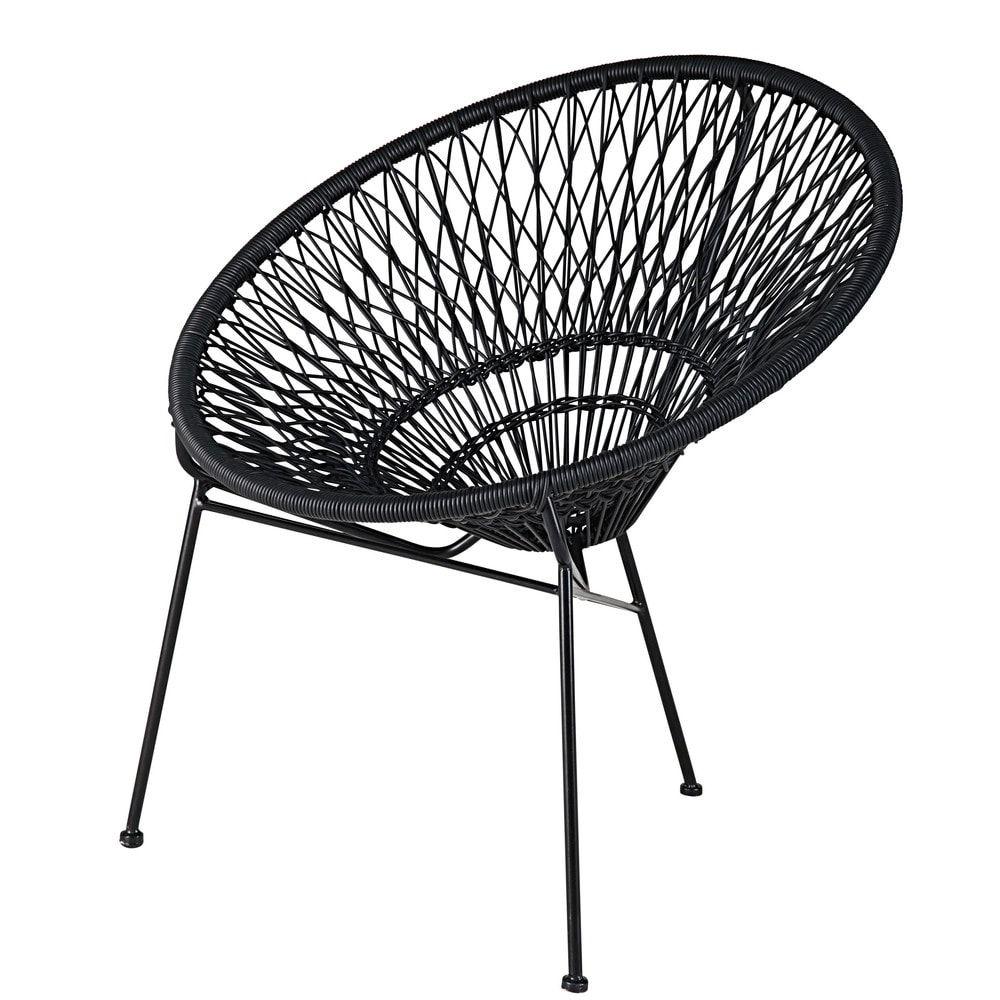 fauteuil de jardin empilable en fil de r sine et m tal noir outdoor pinterest fauteuils de. Black Bedroom Furniture Sets. Home Design Ideas