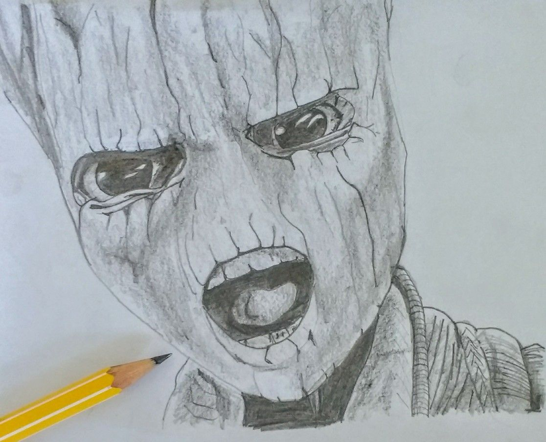 Baby Groot pencil drawing by Nick Beattie #GoTG2   Baby ...