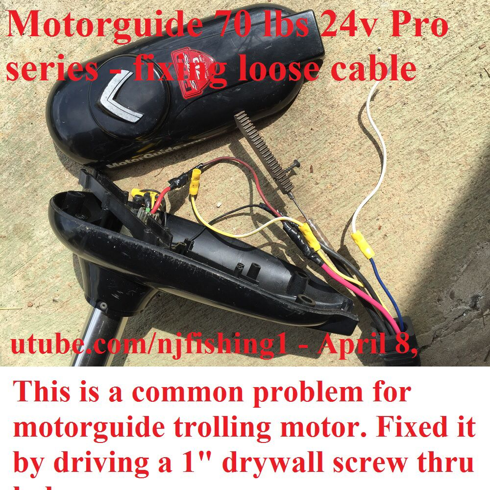Motorguide Trolling Motor 70 Lbs 24v Steering Cable Came Loose General Discussion Forum Indepth Outdoors From