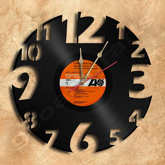 A Unique Gift For Yourself Or Your Loved Ones Will Be Loved Clock Made From Vinyl 12 Single Or Album The Vinyl Record Crafts Vinyl Record Clock Record Crafts