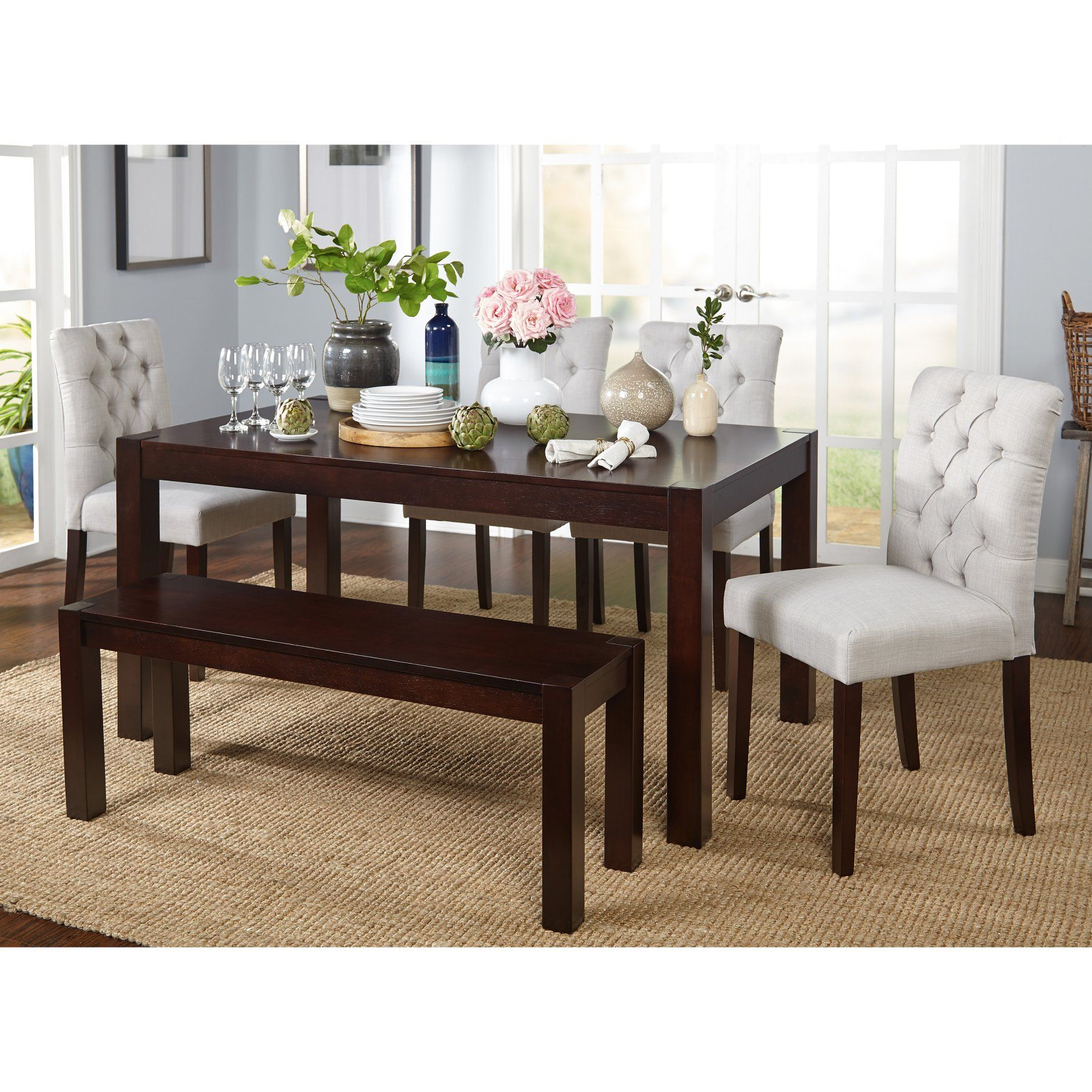 Target Marketing Systems Annie 6 Piece Dining Table Set 92016gry
