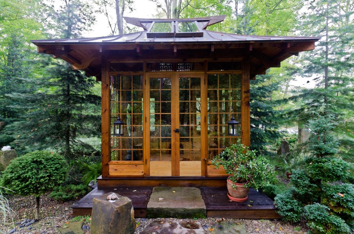 Japanese Porch Google Zoeken Pavillon De Jardin Maison De The