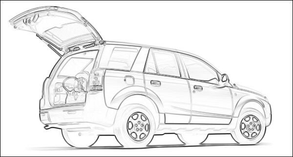 suv top view drawing
