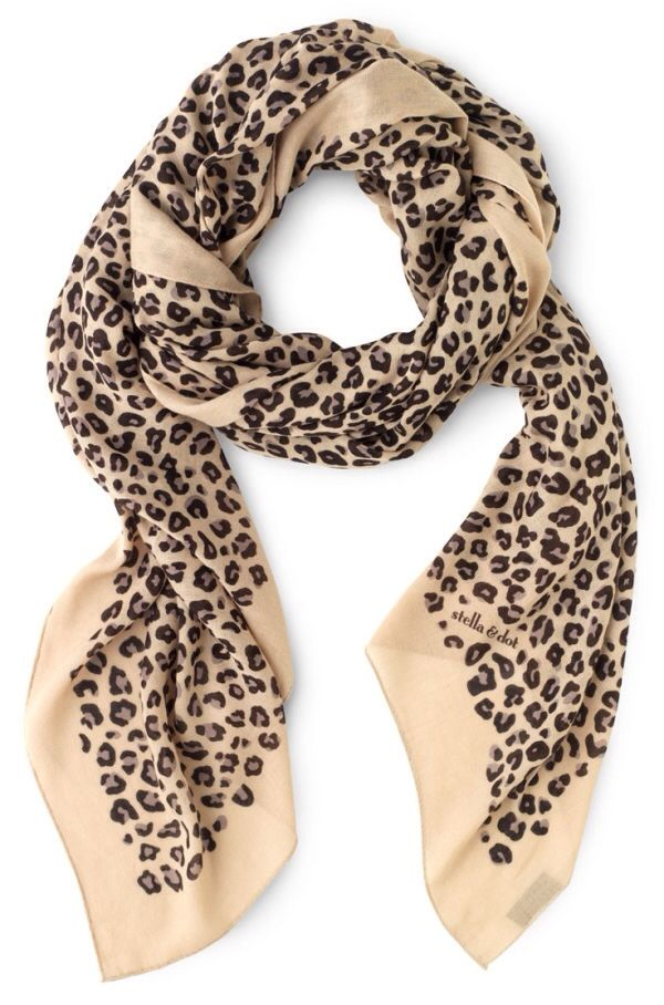 My new scarf! Leopard print may be my new thing :) (in small doses of course)