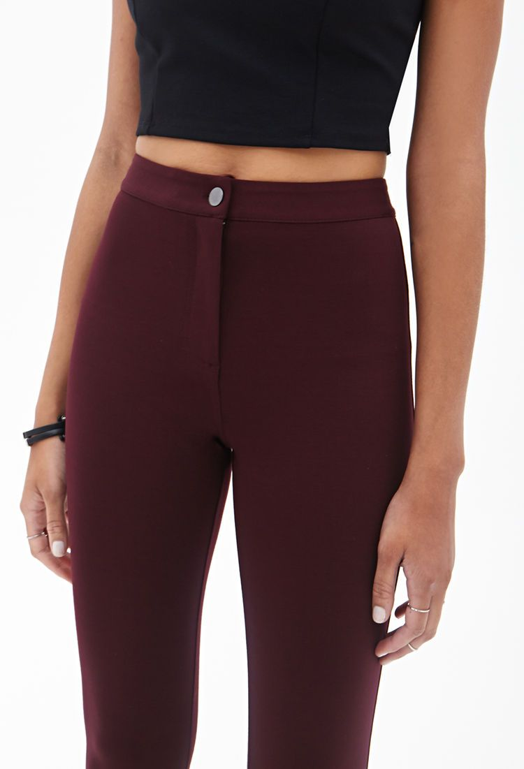 Stretch Knit Pants - Trousers - 2000058691 - Forever 21 UK