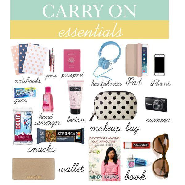 u0026quot carry on essentials u0026quot  by zayrand on polyvore   travel essentials carry on essentials travel bag