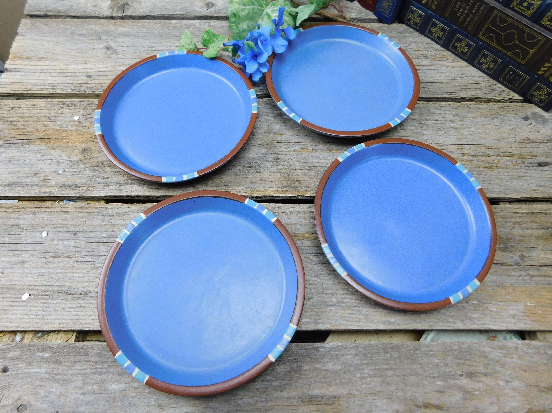 Set of 4 Vintage Dansk Mesa Sky Blue Salad Luncheon Plates - Portugal by allthatsvintage56 on & Set of 4 Vintage Dansk Mesa Sky Blue Salad Luncheon Plates ...