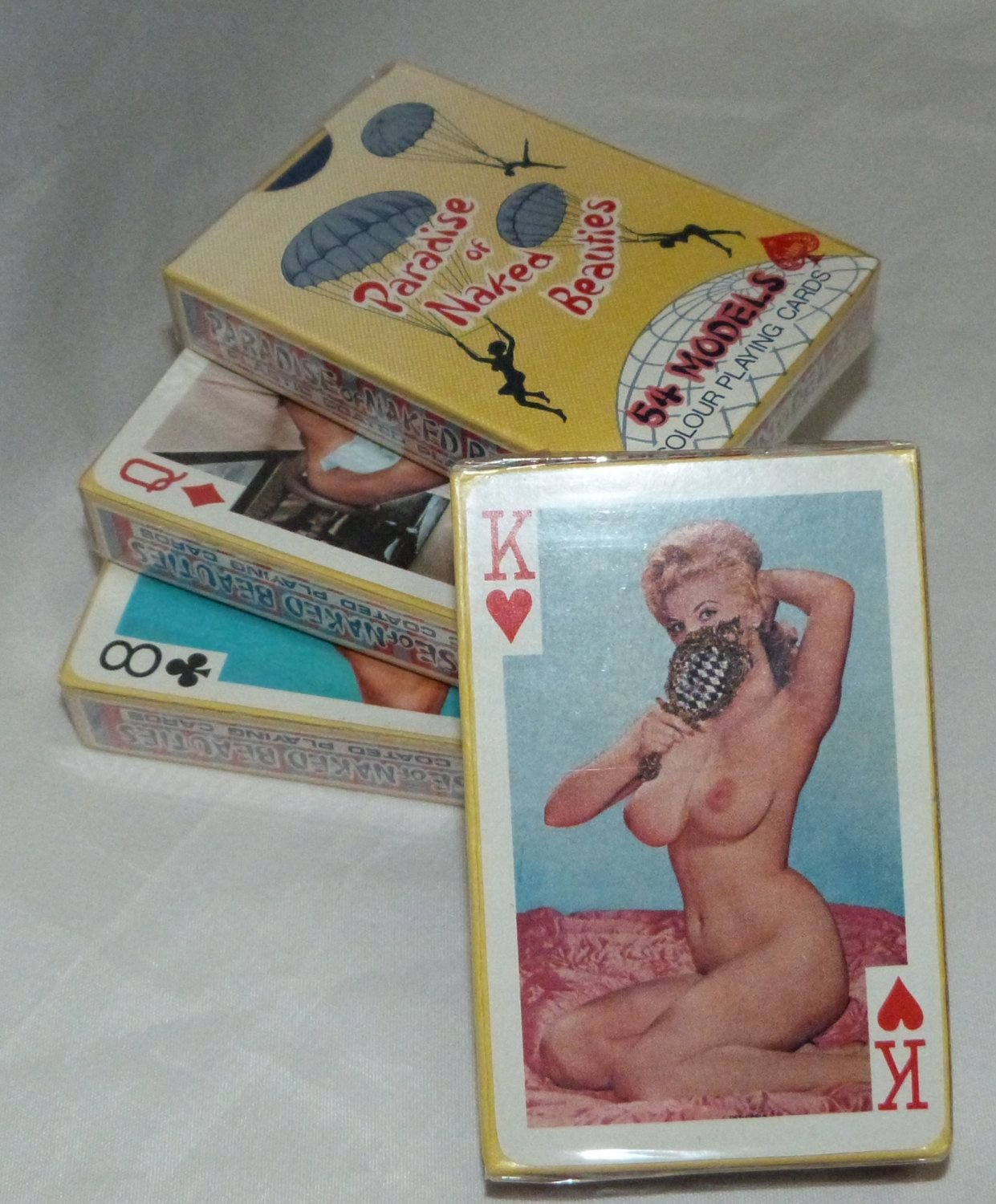 Playing card with naked girl, nude girls sitting on girls faces