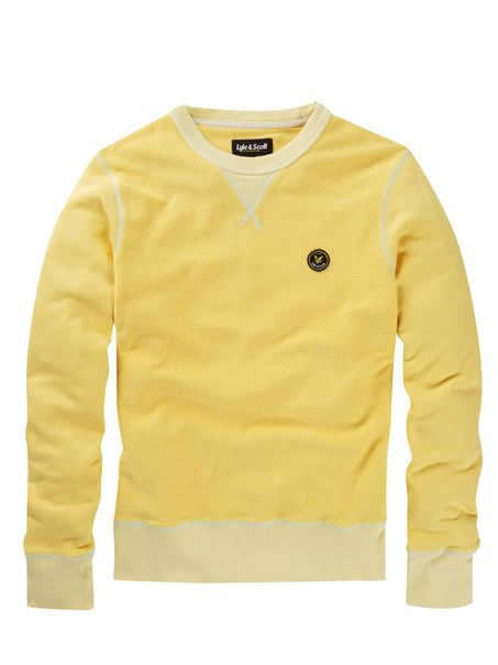 Lyle and Scott Contrast Texture Sweater