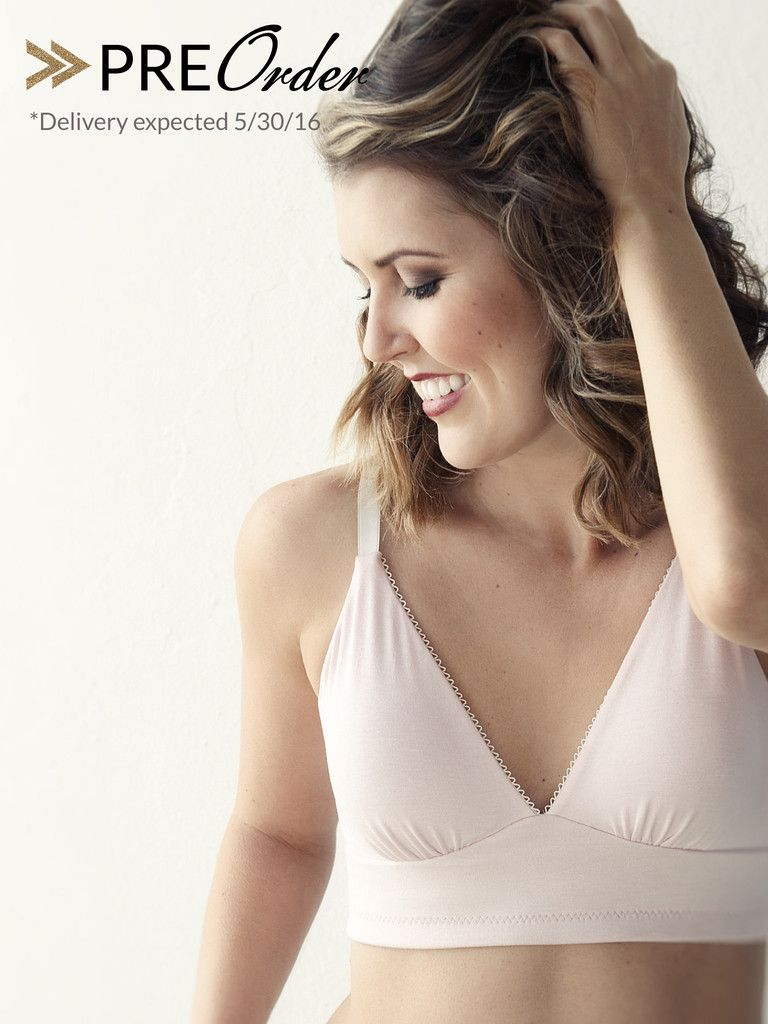 c292d6704b8b2 Pocketed Plunge Wirefree Bra for breast cancer survivors and women  undergoing radiation.