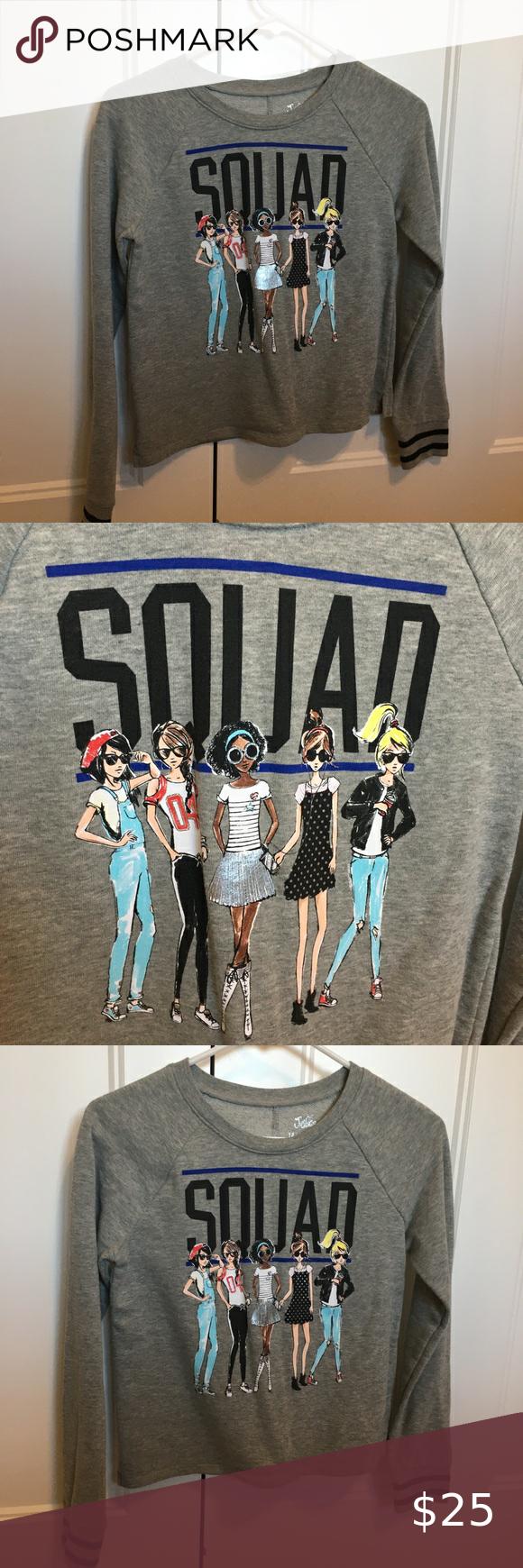 Girls Size 14 Justice Squad Sweatshirt Sweatshirts Size Girls Justice Shirts