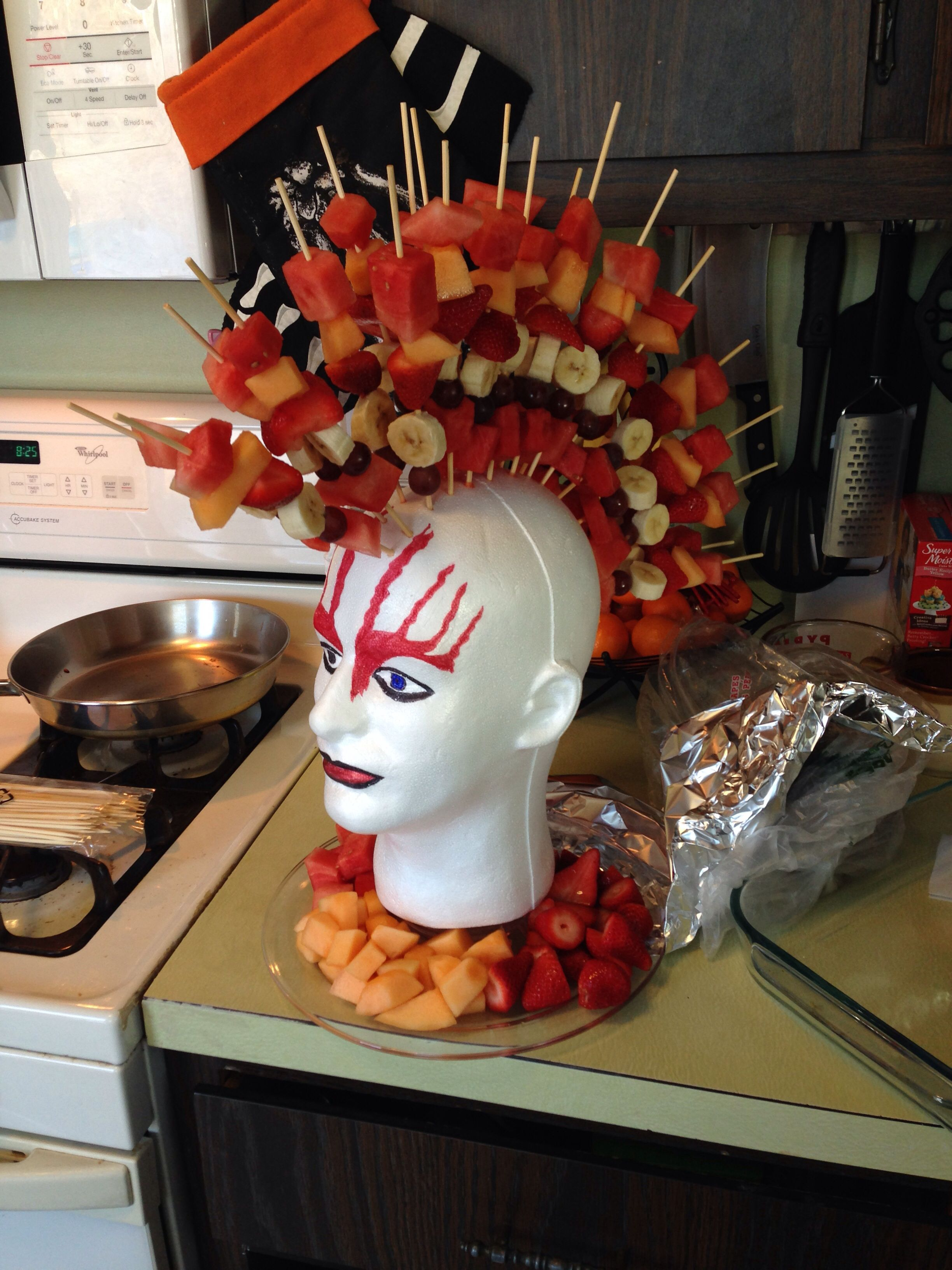 Fruit Mohawk For Lucas Birthday Snack At School Healthy