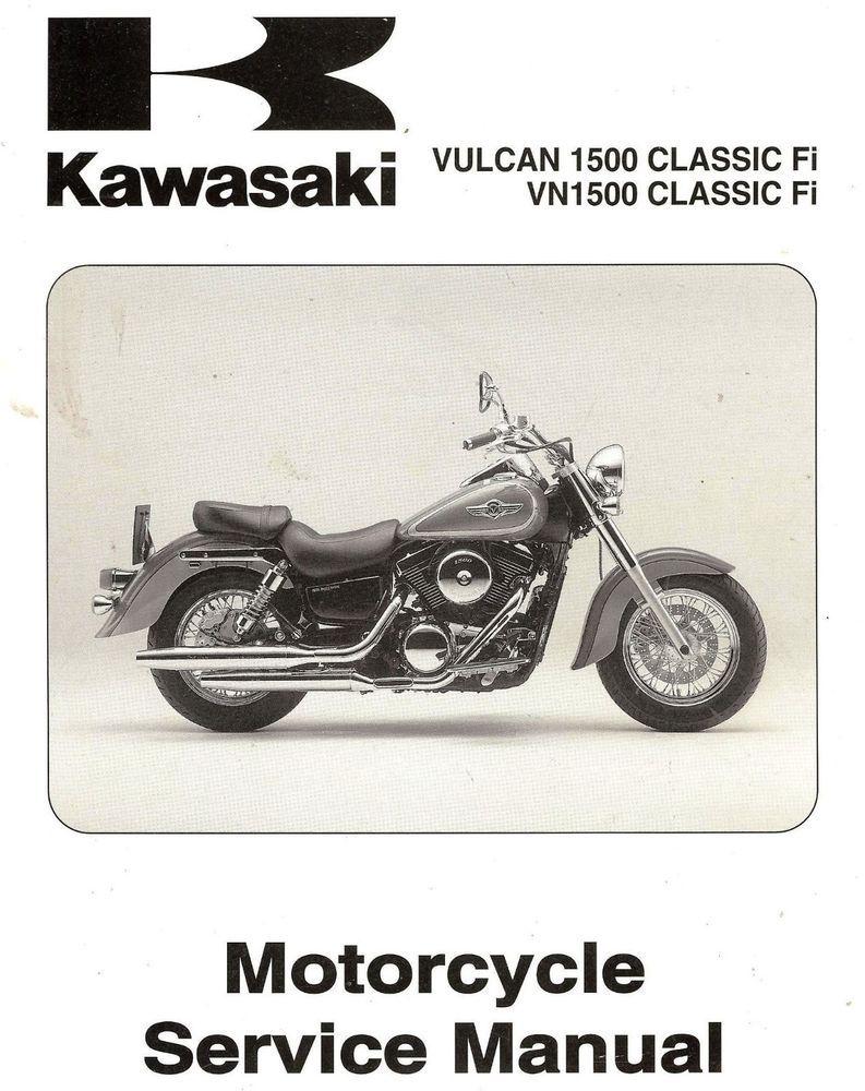 2000 KAWASAKI VN1500 VULCAN 1500 CLASSIC FI MOTORCYCLE SERVICE MANUAL  -VN1500N1