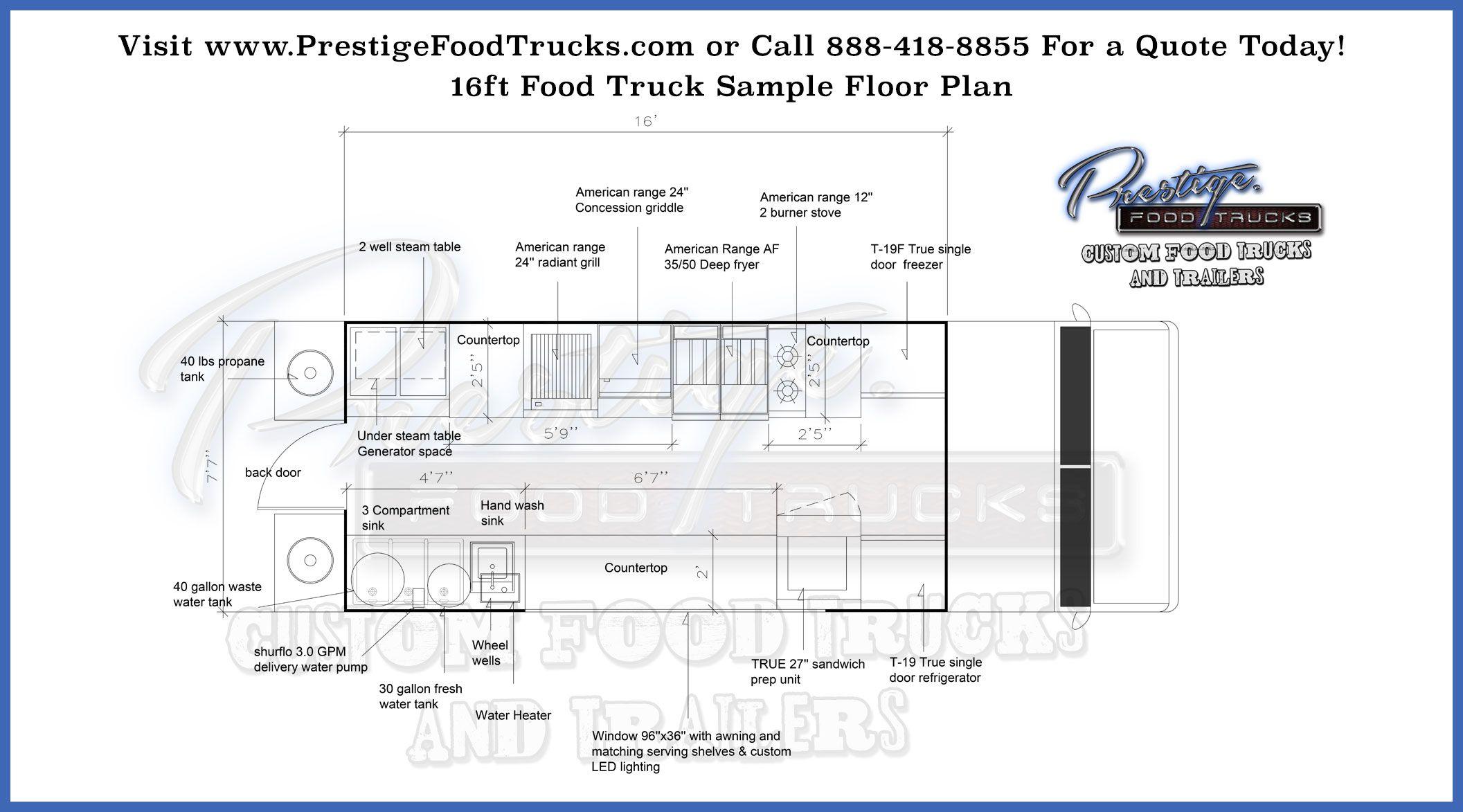 Food Truck Floor Plan Samples Food truck for sale, Food