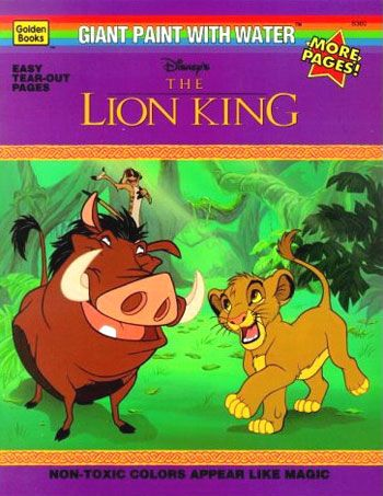 Paint With Water One Of My Fav Roman Catholic Pastimes The Lion King Paint With Water Book Tiiimmmes Coloring Books King Painting Books