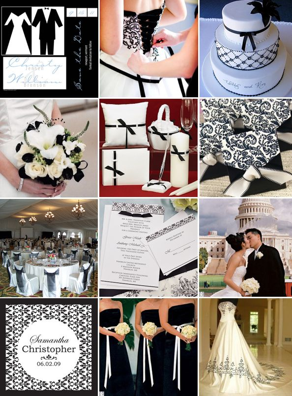 Black White And Platinum Wedding Colors Weddings Style And Decor Planning Wed Black White Wedding Black And White Wedding Theme White Wedding Decorations