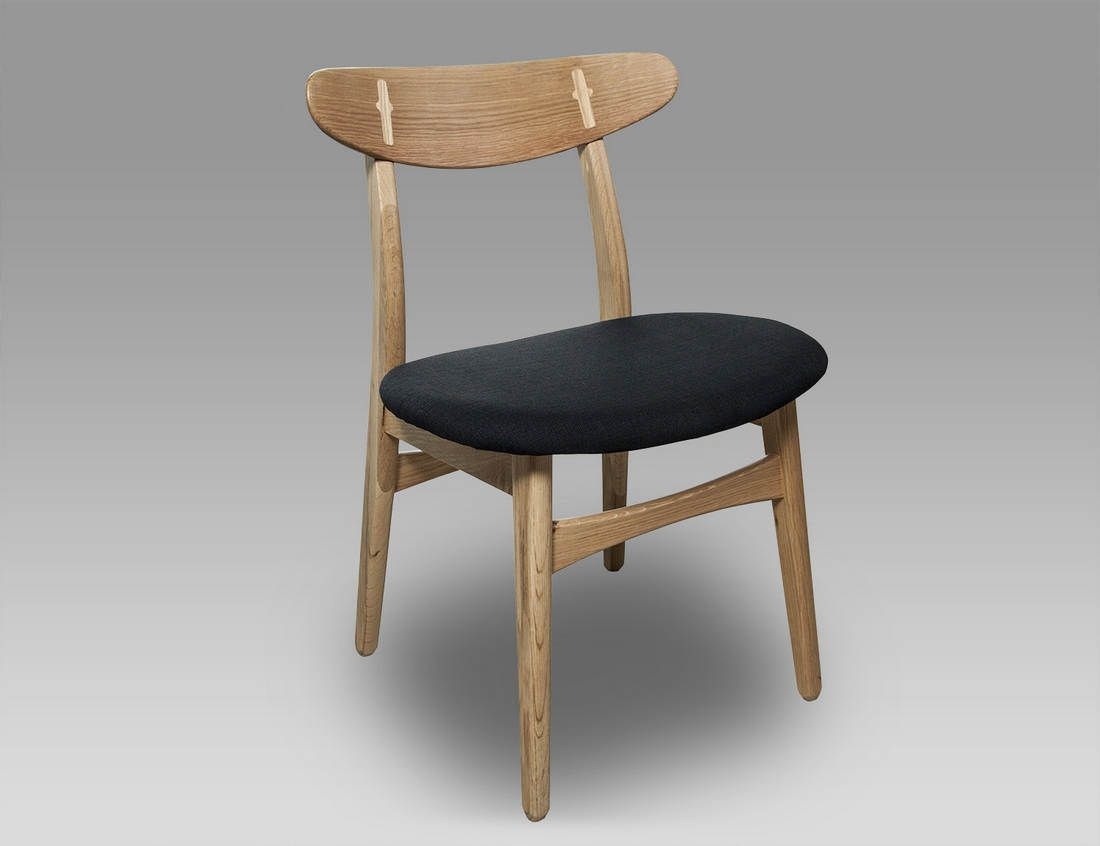 Black Modern Danish Dining Chair - Retro Scandinavian Furniture ...