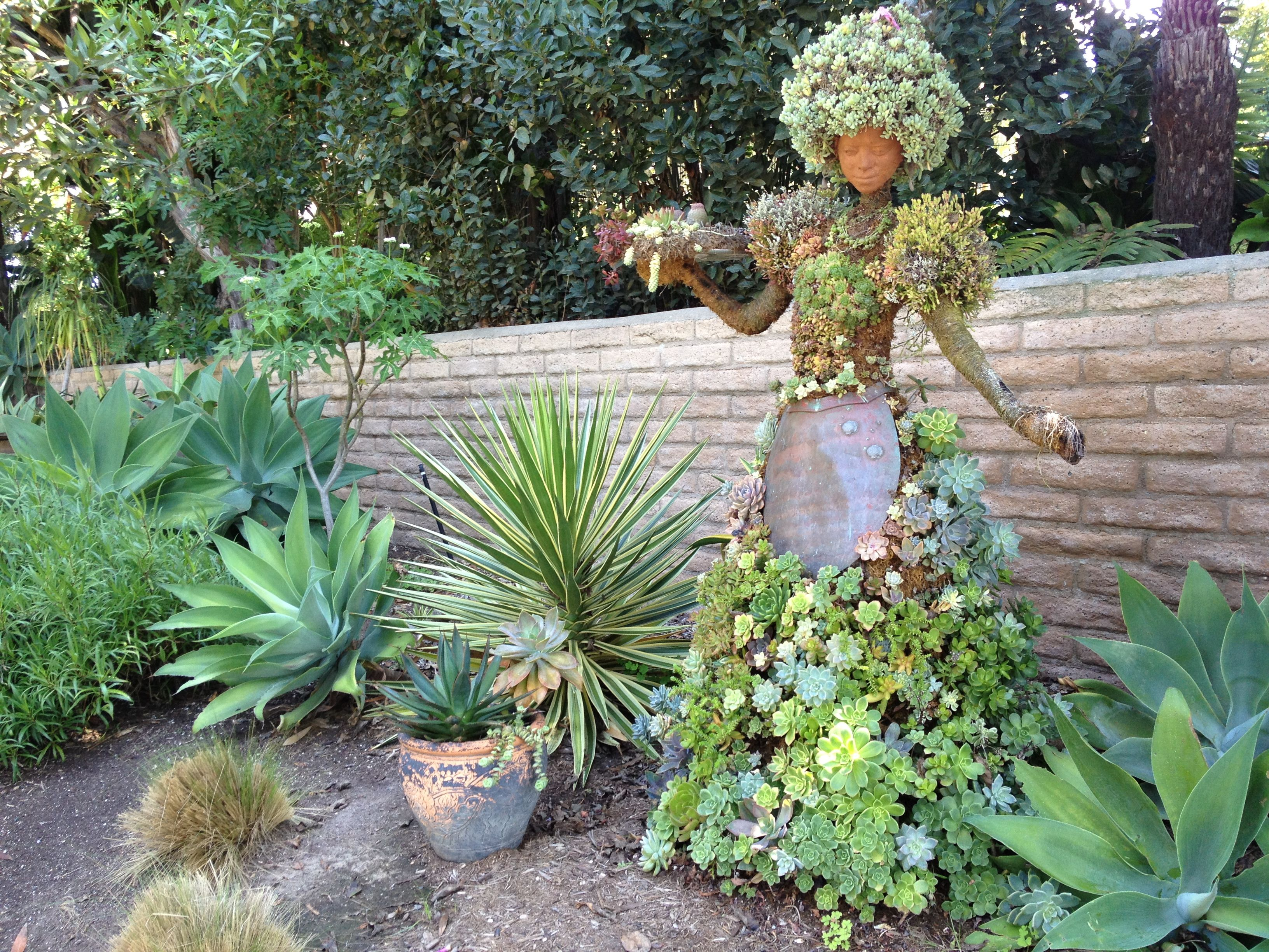 Succulent art at the San Diego Botanic Gardens Travel Art
