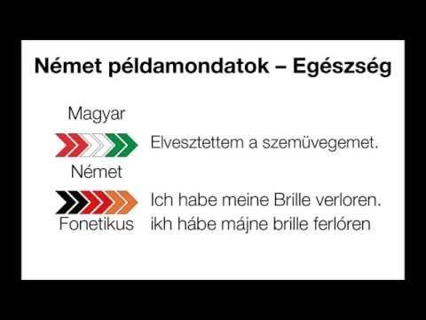 Német példamondatok Egészség/Deutsche Ausdrücke