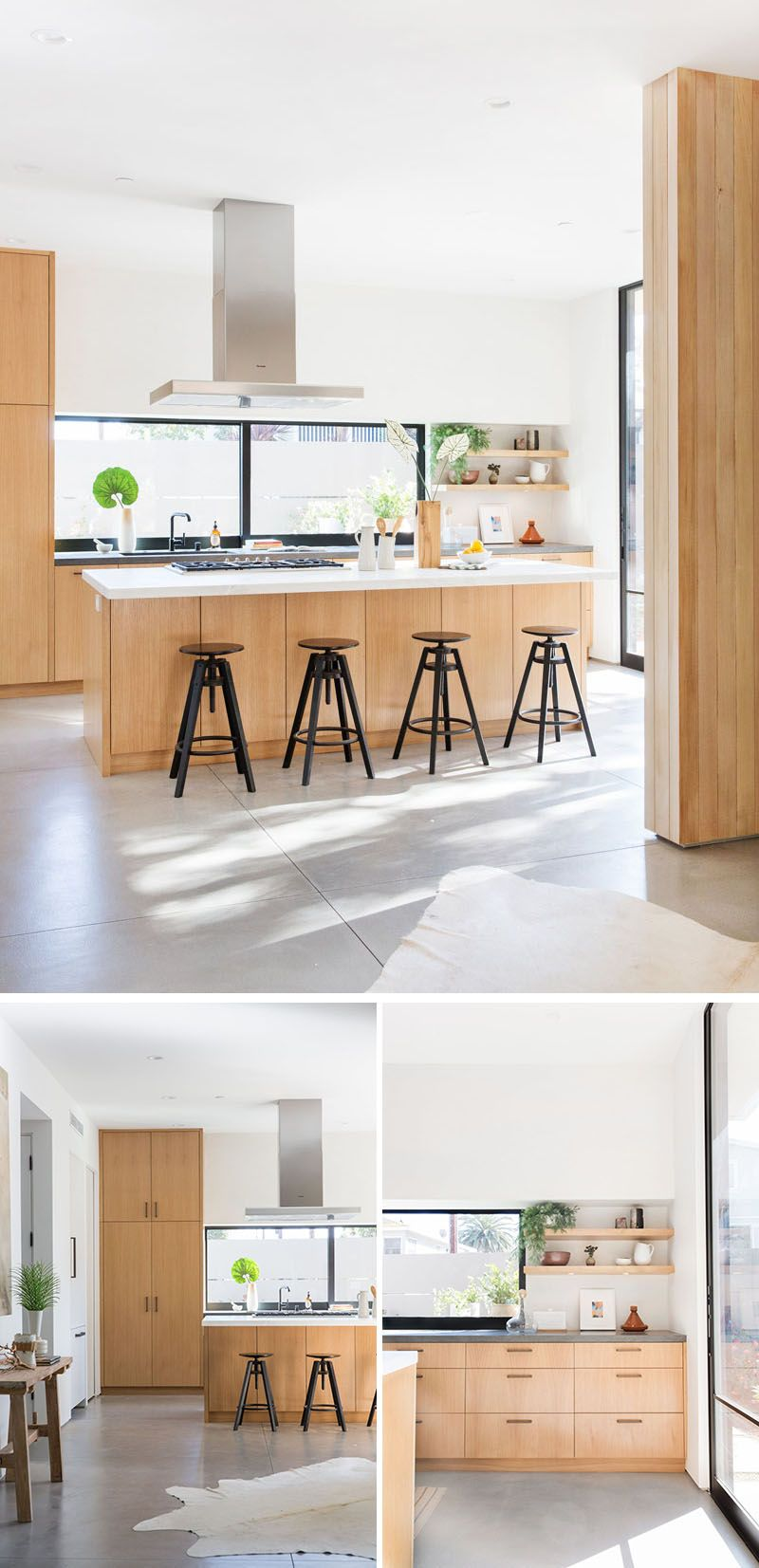 The 5th Street Residence By Electric Bowery | Light oak cabinets ...