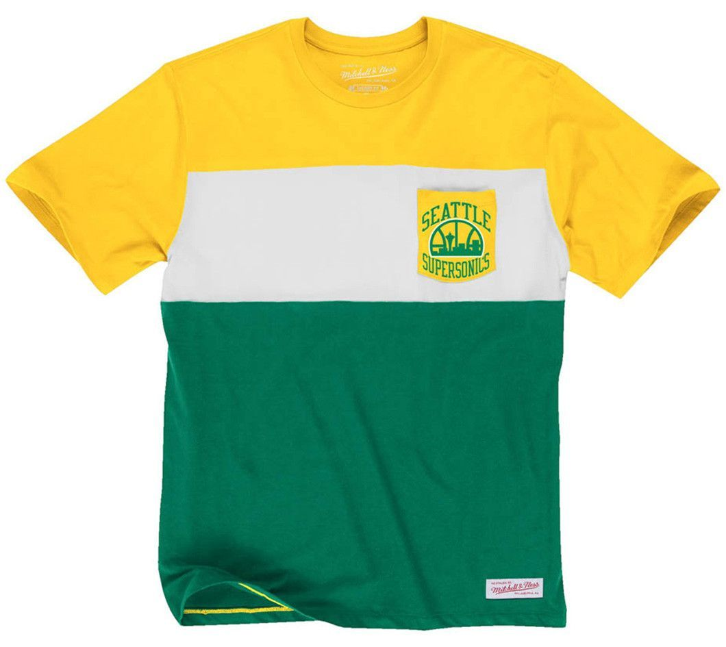 NBA SEATTLE SUPERSONICS Mitchell & Ness Margin of Victory Mens ...