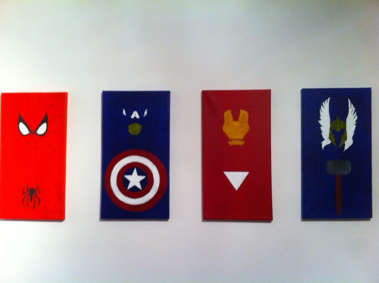 Easy Paintings Canvas Superhero