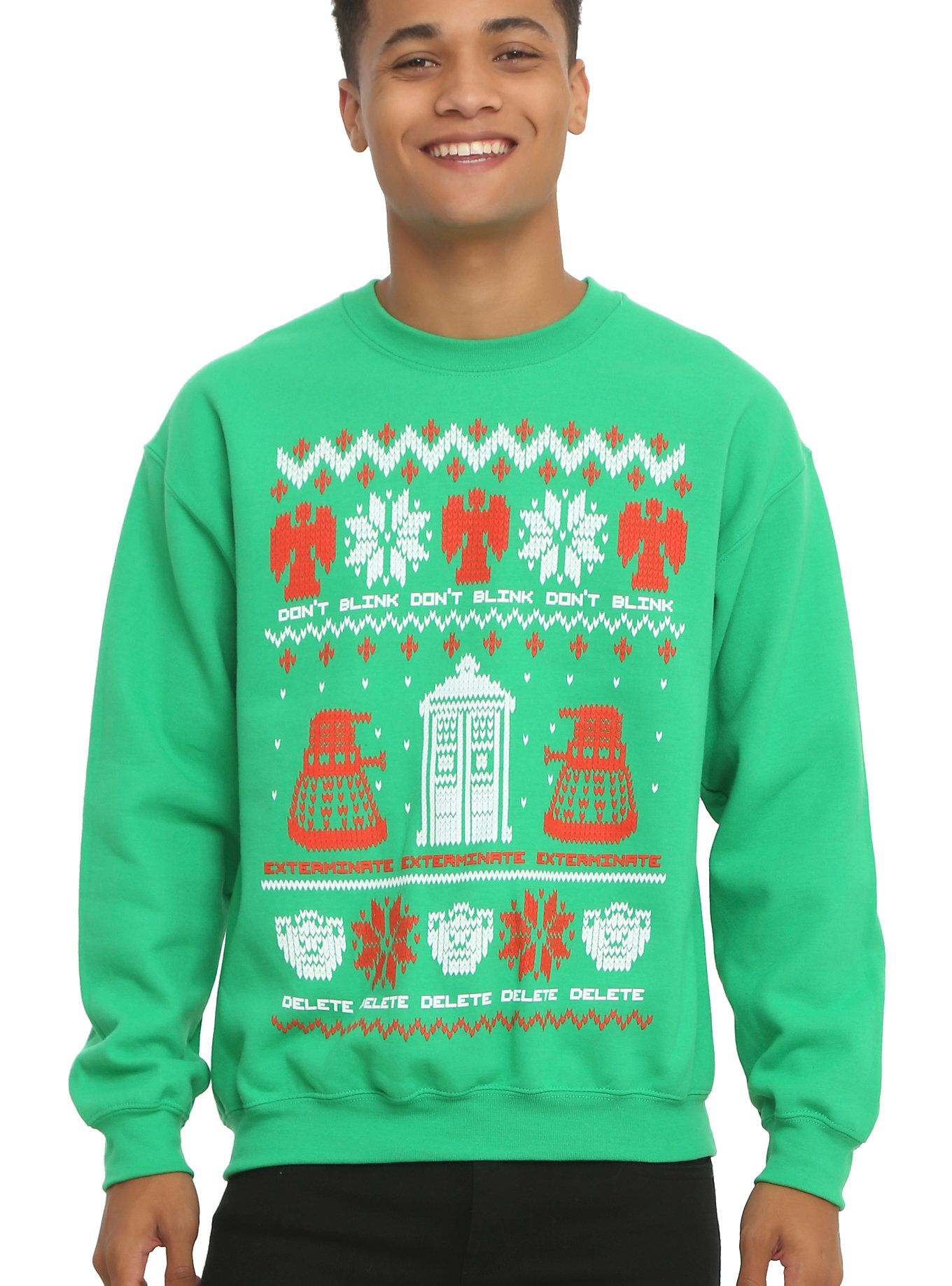 Doctor Who Ugly Holiday Sweater Sweatshirt | Hot Topic | Geek Chic ...