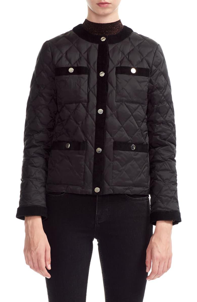 Maje Galipe Down Puffer Jacket Nordstrom Quilted Coat Women Quilted Coat Puffer Jackets [ 1196 x 780 Pixel ]