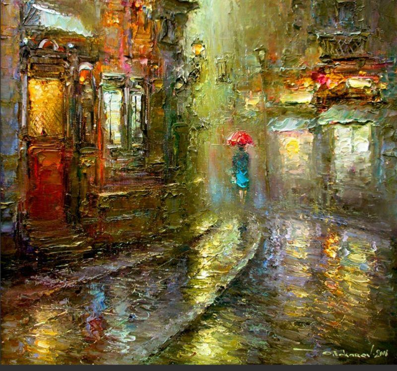 дождливый город - Самое интересное в блогах | Sanat, Sanat ...  Дождливый Город Картина