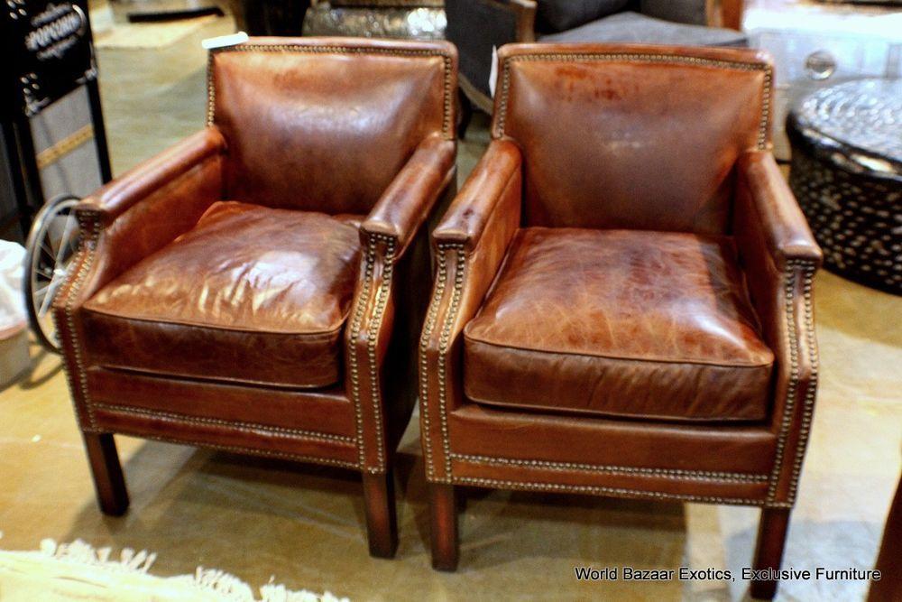 Best 26 W Set Of 2 Club Arm Chair Brazilian Brown Cigar 400 x 300