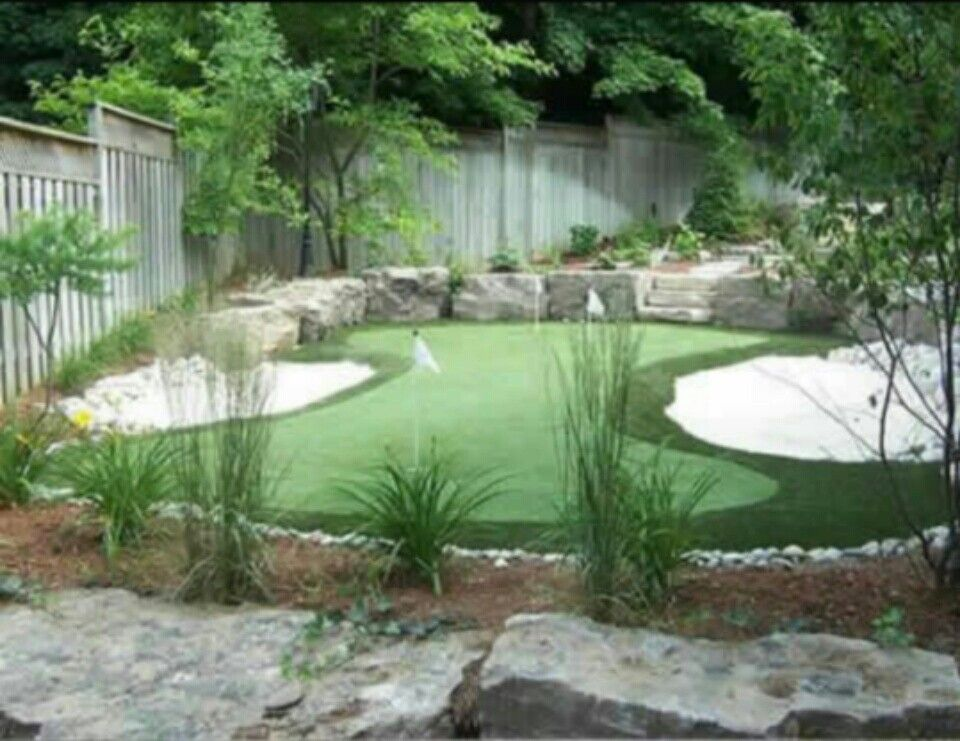 Backyard Putting Green! Guests Can Get In Their Golf Practice And Will Love  Coming Over To Your House. Island Landscape Creates Custom Putting Greens  For ...
