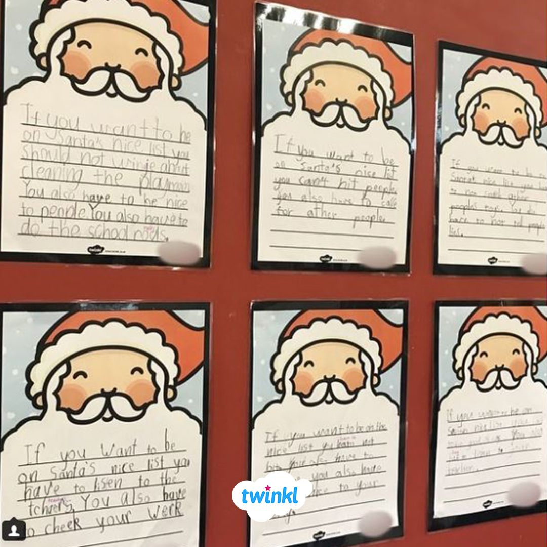 If You Want To Be On Santa S Nice List Eative Writing