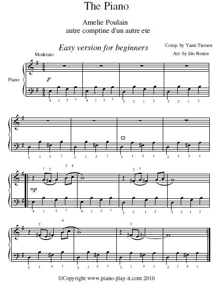 Comptine D Un Autre été Guitar Tutorial Amelie Soundtrack Piano Sheet Piyano Egitimi Piyano Amelie