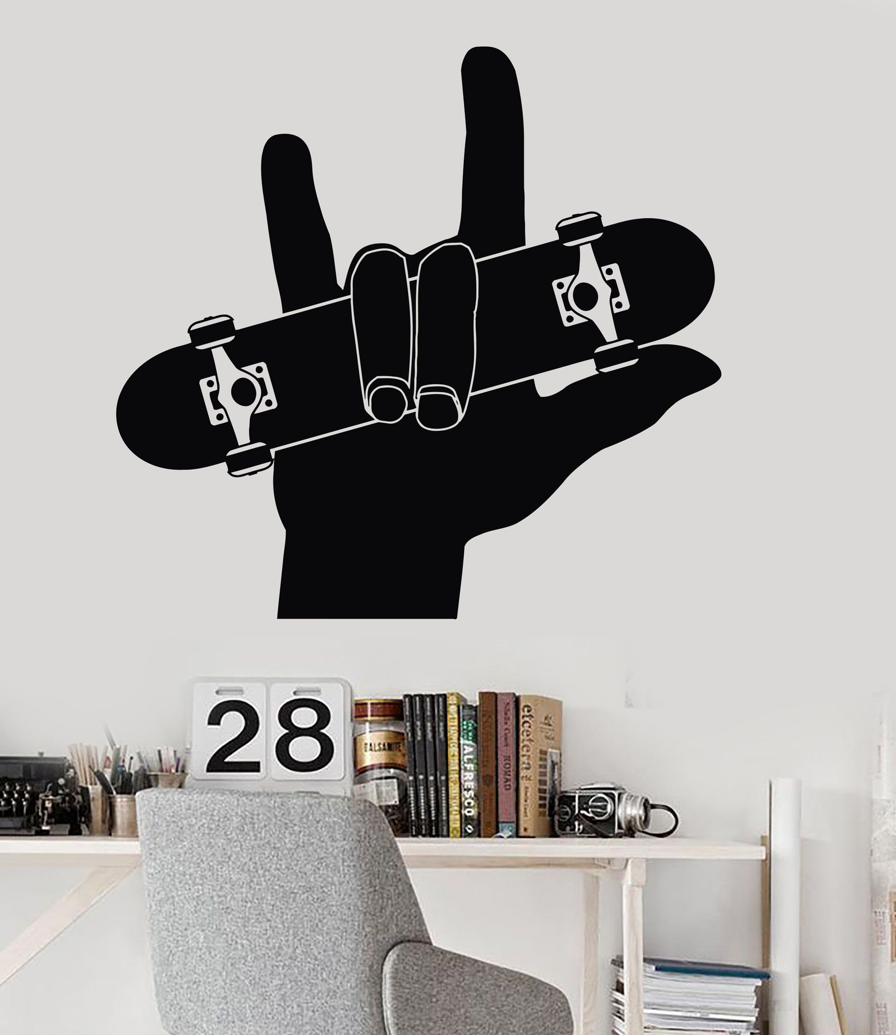 Vinyl Wall Decal Skateboard Teen Room Sports Skateboarding Stickers Ig3329