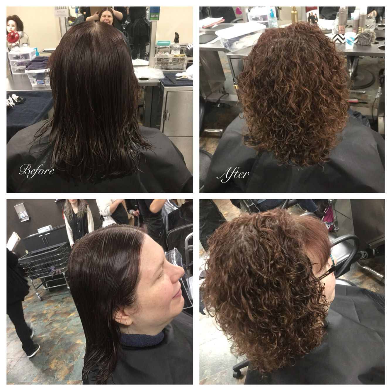 Straight perm solution - Basic Straight Back Perm Wrap Using Grey Rods Used Quantum Extra Body Perm Solution