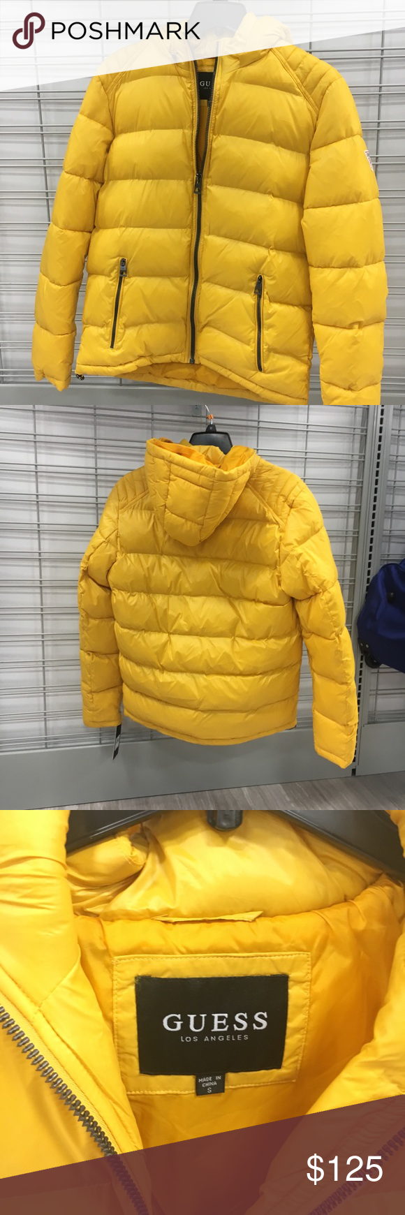 Yellow Guess Men S Hooded Puffer Coat New With Tags For Sale Is What You See In The Pictures And Title All Originally Priced At Puffer Coat Guess Men Puffer [ 1740 x 580 Pixel ]