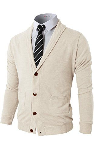 142ea42c5c H2H Men Fashion Basic Shawl Collar Knitted Cardigan Sweaters IVORY US 3XL  Asia 4XL (CMOCAL07) ❤ .