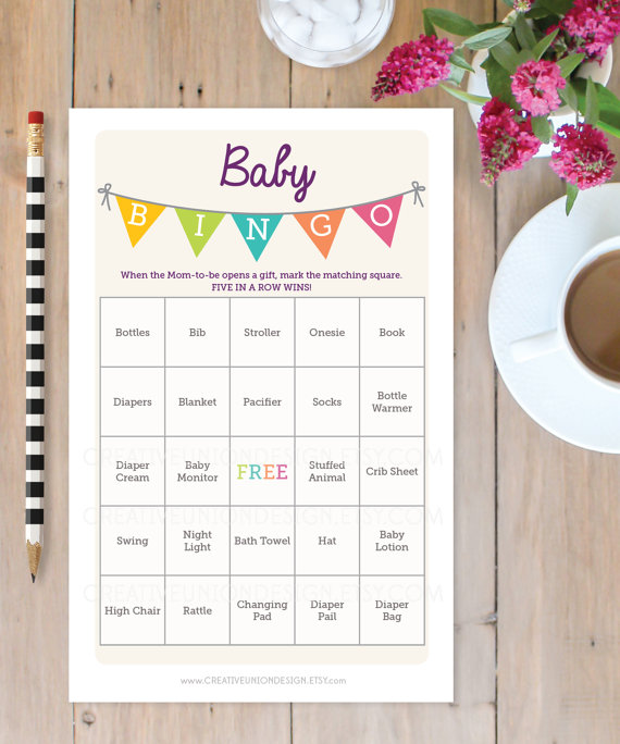 baby shower bingo game 50 unique game sheets bingo baby shower